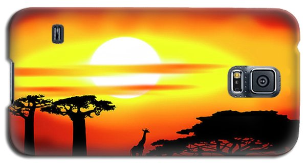 Africa Sunset Galaxy S5 Case by Michal Boubin