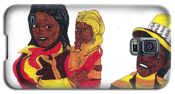 Galaxy S5 Case featuring the drawing African-americana by Don Koester
