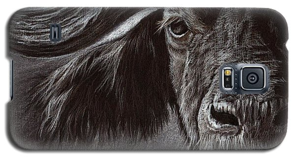 Galaxy S5 Case featuring the drawing African Buffalo by Heidi Kriel