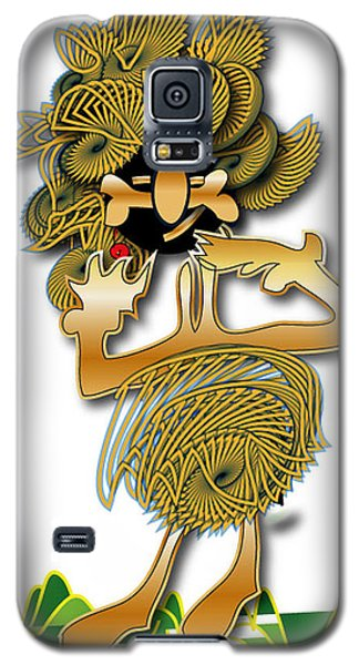 Galaxy S5 Case featuring the digital art African Dancer With Bone by Marvin Blaine