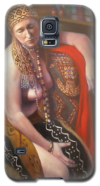 Galaxy S5 Case featuring the painting African Drum #2 by Donelli  DiMaria