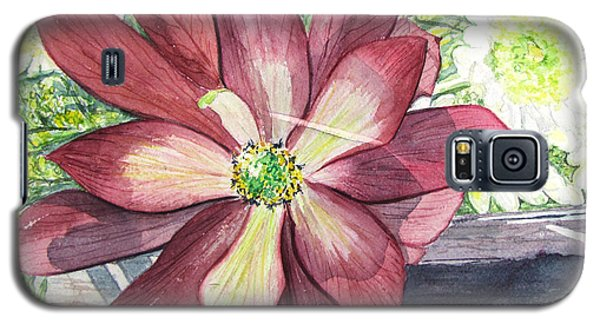 Galaxy S5 Case featuring the painting African Flower by Carol Flagg