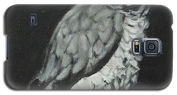 Galaxy S5 Case featuring the painting African Grey by Jeanne Fischer