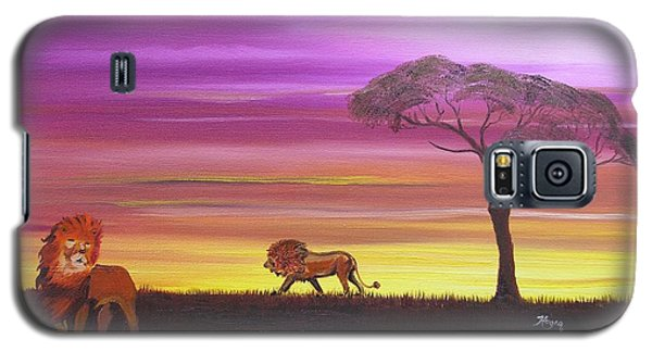 African Lions Galaxy S5 Case by Barbara Hayes