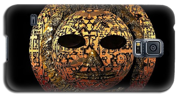 Galaxy S5 Case featuring the digital art African Mask Series 1 by Jacqueline Lloyd