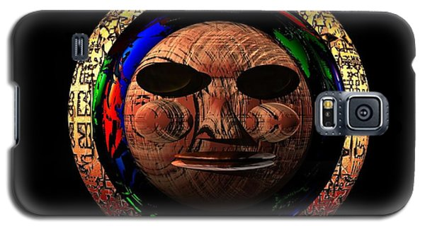 Galaxy S5 Case featuring the digital art African Mask Series 2 by Jacqueline Lloyd