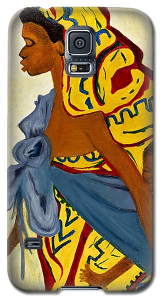 Galaxy S5 Case featuring the painting African Mother And Child by Sher Nasser