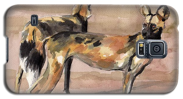 African Painted Dogs Galaxy S5 Case