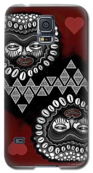 African Queen-of-hearts Card Galaxy S5 Case