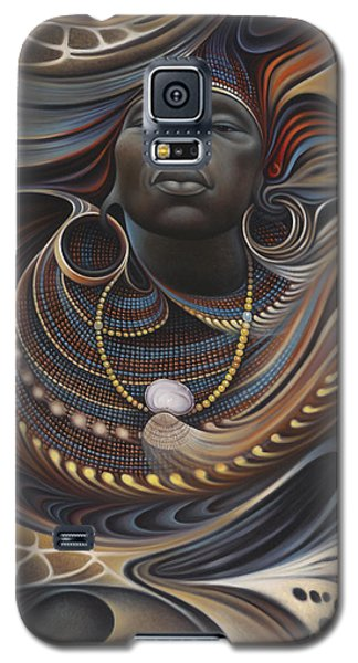 Brown Snake Galaxy S5 Case - African Spirits I by Ricardo Chavez-Mendez