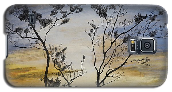 Galaxy S5 Case featuring the painting African Sunset by Stuart Engel