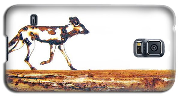 Endangered African Wild Dog - Original Artwork Galaxy S5 Case