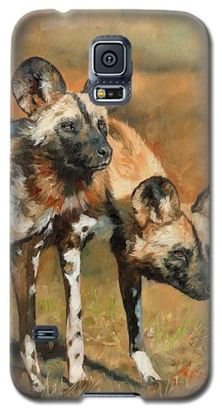 Wildlife Galaxy S5 Case - African Wild Dogs by David Stribbling
