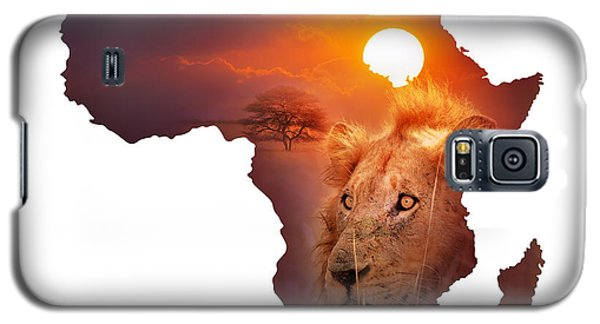African Wildlife Map Galaxy S5 Case
