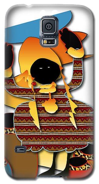 Galaxy S5 Case featuring the digital art African Worker by Marvin Blaine