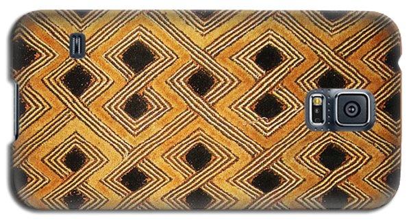 Galaxy S5 Case featuring the digital art African Zaire Congo Kuba Textile by Vagabond Folk Art - Virginia Vivier