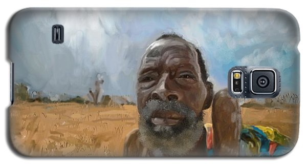 Galaxy S5 Case featuring the mixed media Afrikan Bushman by Vannetta Ferguson