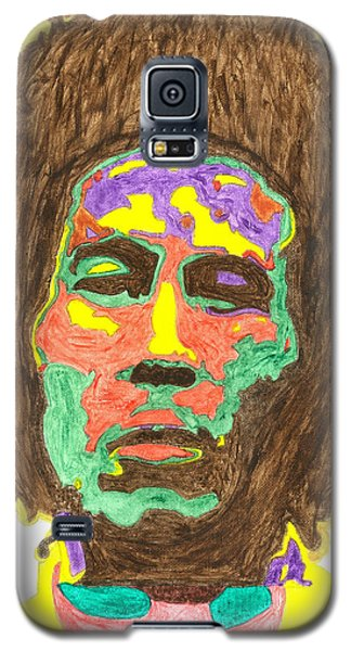 Galaxy S5 Case featuring the painting Afro Bob Marley by Stormm Bradshaw