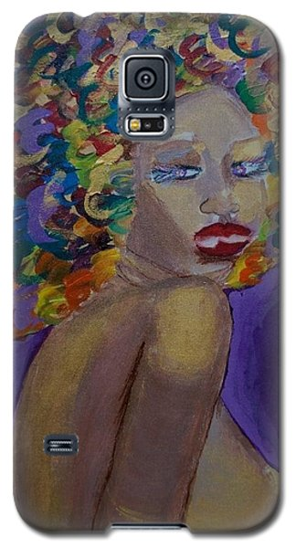 Galaxy S5 Case featuring the painting Afro-chic by Apanaki Temitayo M
