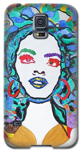 Galaxy S5 Case featuring the painting Afro Lauryn Hill  by Stormm Bradshaw
