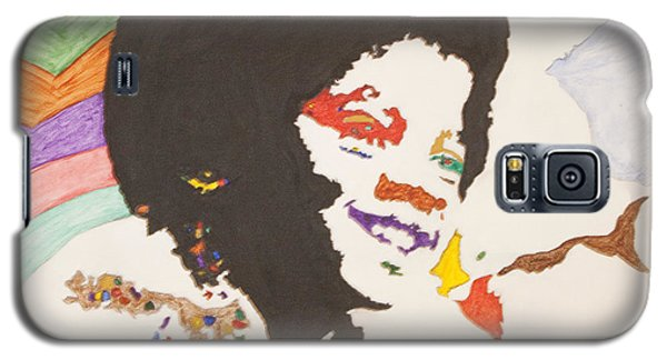 Galaxy S5 Case featuring the painting Afro Michael Jackson by Stormm Bradshaw