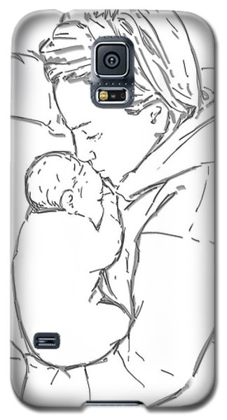 Galaxy S5 Case featuring the drawing After A Long Journey by Olimpia - Hinamatsuri Barbu