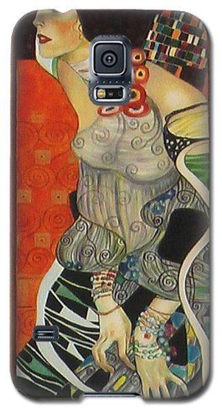 Galaxy S5 Case featuring the painting After Gustav Klimt by Sylvia Kula