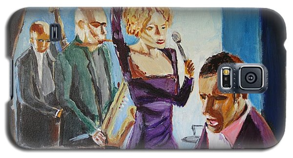 Galaxy S5 Case featuring the painting After Hours by Judy Kay
