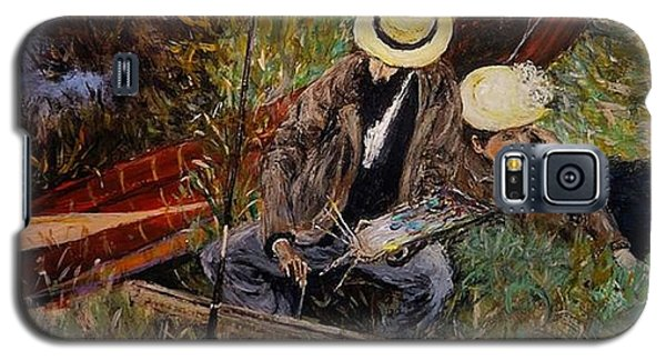 After John Singer Sargent- Paul Cesar Helleu Sketching With His Wife 1889 Galaxy S5 Case