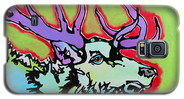 Galaxy S5 Case featuring the painting After Midnight by Nicole Gaitan