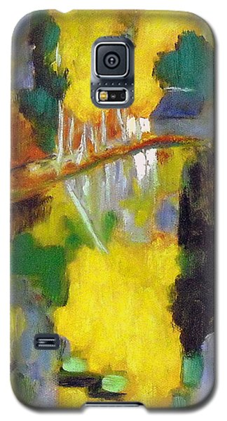 Galaxy S5 Case featuring the painting after Paul Serusier by Jodie Marie Anne Richardson Traugott          aka jm-ART