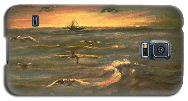 Galaxy S5 Case featuring the painting After Sunset  by Laila Awad Jamaleldin
