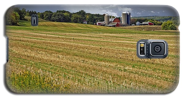 Galaxy S5 Case featuring the photograph After The Harvest by Judy  Johnson