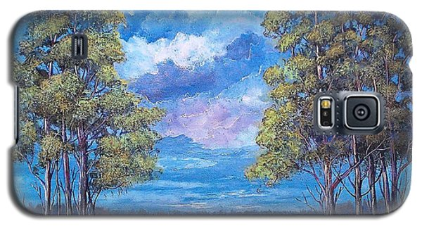 Galaxy S5 Case featuring the painting After The Rain by Suzanne Theis
