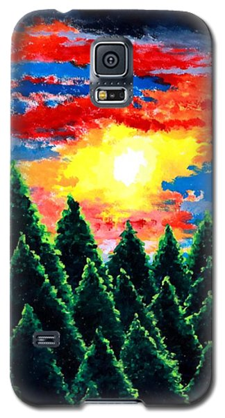 Galaxy S5 Case featuring the painting After The Rain by Thomas Gronowski