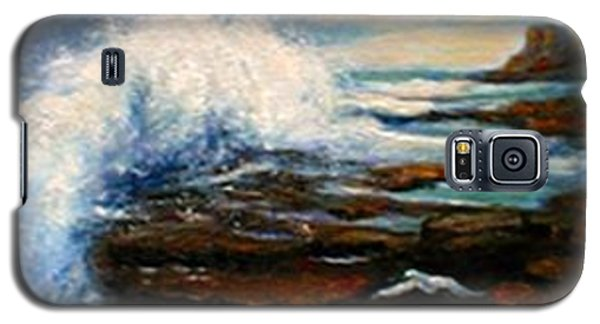 Galaxy S5 Case featuring the painting After The Storm by Gail Kirtz