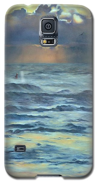 Galaxy S5 Case featuring the painting After The Storm by Lori Brackett