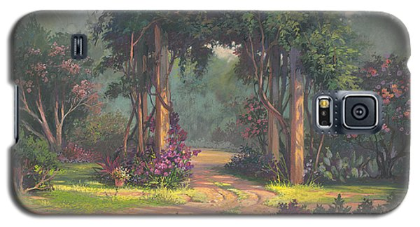 Galaxy S5 Case featuring the painting Afternoon Arbor by Michael Humphries