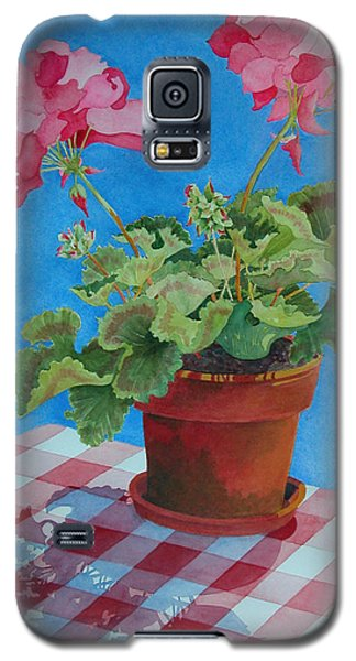 Galaxy S5 Case featuring the painting Afternoon Shadows by Mary Ellen Mueller Legault