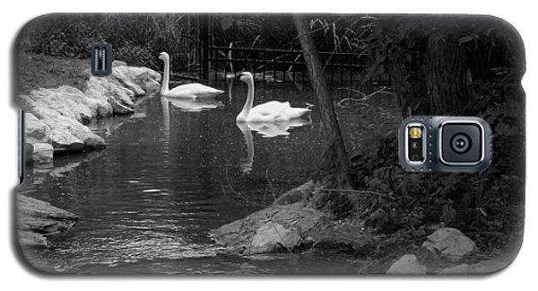 Galaxy S5 Case featuring the photograph Afternoon Swim Bw by Elizabeth  Sullivan