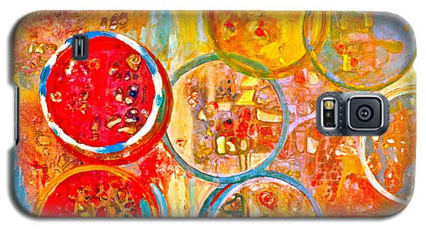 Against The Rain Abstract Orange Galaxy S5 Case