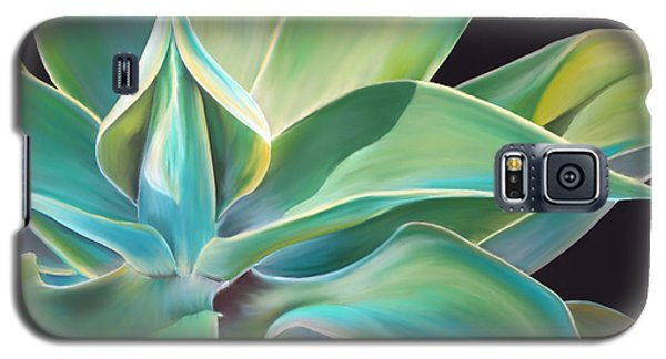 Galaxy S5 Case featuring the painting Agave 2 by Laura Bell