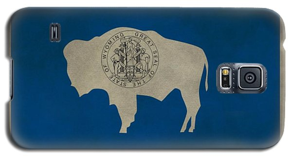 Aged Wyoming State Flag Galaxy S5 Case by Dan Sproul
