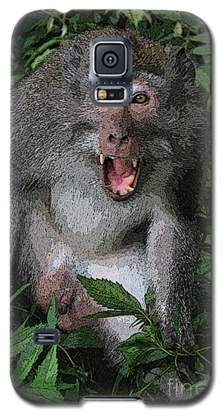 Galaxy S5 Case featuring the photograph  Aggressive Monkey From Bali by Sergey Lukashin