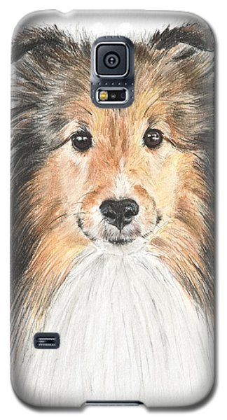 Agility Dog Sheltie In Pastel Galaxy S5 Case