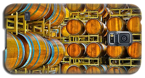 Aging Wine Barrels Galaxy S5 Case by Richard J Cassato