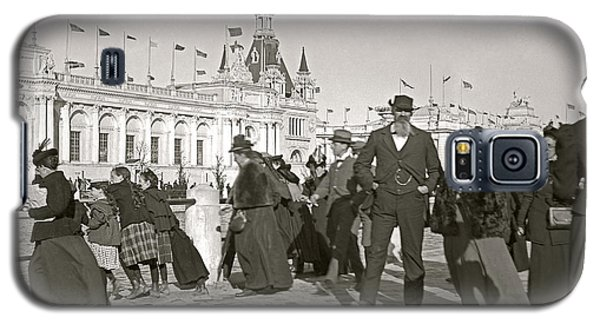 Galaxy S5 Case featuring the photograph Agricultural Building Omaha Expo 1898 by Martin Konopacki Restoration