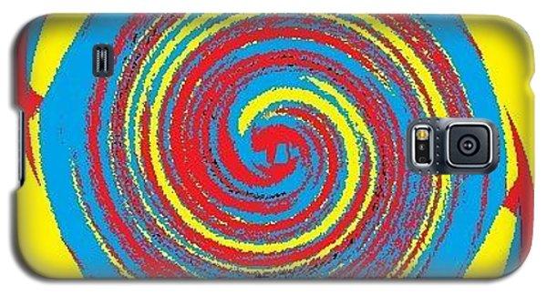 Galaxy S5 Case featuring the digital art Aimee Boo Swirled by Catherine Lott