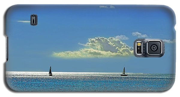 Galaxy S5 Case featuring the photograph Air Beautiful Beauty Blue Calm Cloud Cloudy Day by Paul Fearn