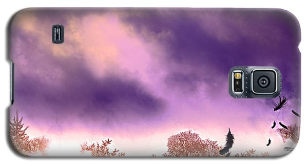 Galaxy S5 Case featuring the painting Air Element by Persephone Artworks